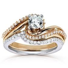 matching diamond ring set