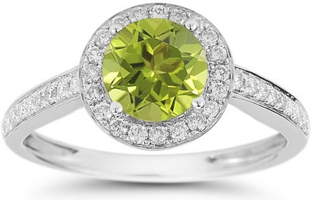gold peridot rings